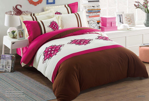 6 Piece Luxury Embroidery Bedding Set-BDS2121 - Aiiwah.com