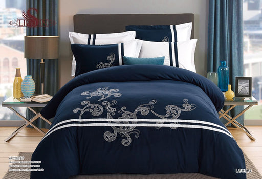 6 Piece Luxury Embroidery Bedding Set-BDS2271 - Aiiwah.com