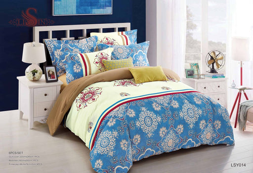 6 Piece Luxury Embroidery Bedding Set-BDS2601 - Aiiwah.com