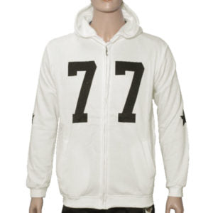 "Trap ""77"" Hoodie Jacket High Quality - Off White"