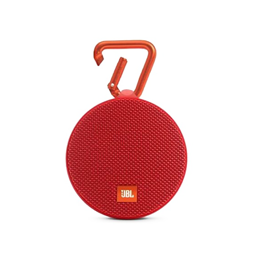 JBL Clip 2 Waterproof Portable Bluetooth Speaker (Red)-Aiiwah.com