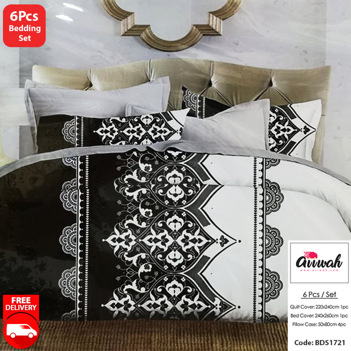 6 Piece Bedding Set-BDS1721 - Aiiwah.com