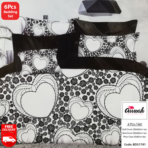 6 Piece Bedding Set-BDS1741 - Aiiwah.com