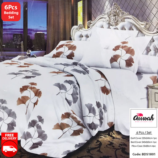 6 Piece Bedding Set-BDS1801 - Aiiwah.com