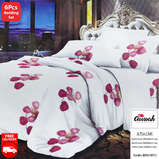 6 Piece Bedding Set-BDS1811 - Aiiwah.com