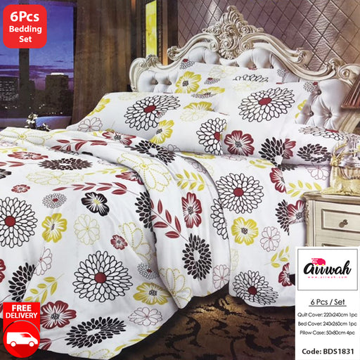 6 Piece Bedding Set-BDS1831 - Aiiwah.com