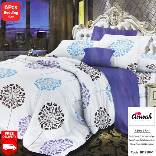 6 Piece Bedding Set-BDS1861 - Aiiwah.com