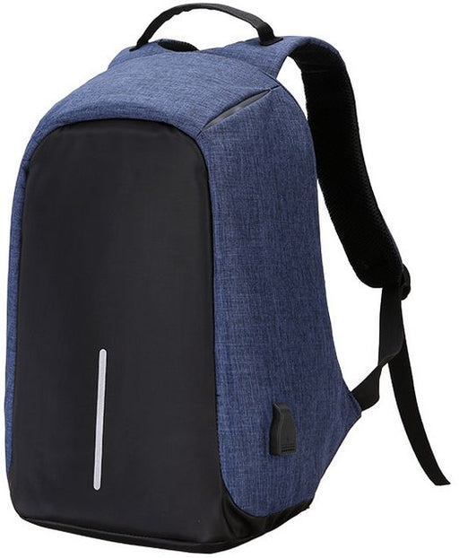 Anti Theft Back Pack with USB Charging Port - Blue - Aiiwah.com