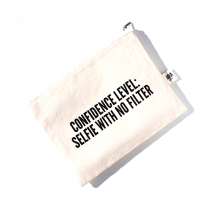 AOA Canvas Pouch- Confidence Level - Aiiwah.com
