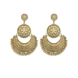 Gold Plated Big Chandelier Earrings