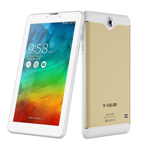 S COLOR U200 Tablet Dual SIM 7 inch Android 7.0 32GB, 3GB RAM 4G-Aiiwah.com