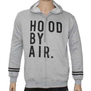 "Trap ""HOOD BY AIR"" Hoodie Jacket High Quality - Grey"