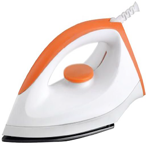 Geepas Dry Iron 220-240V 50/60Hz 1200-1400W,Multi Color - GDI7804