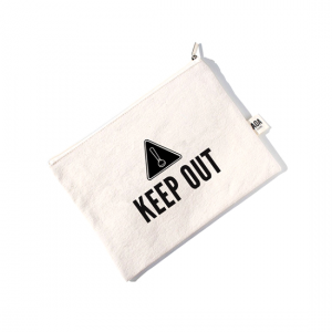 AOA Canvas Pouch- KEEP OUT - Aiiwah.com