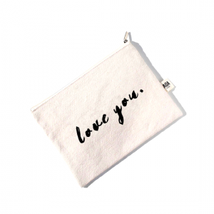 AOA Canvas Pouch - Love You - Aiiwah.com
