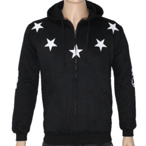 "Trap ""Lucky Stars"" Hoodie Jacket High Quality - Black"