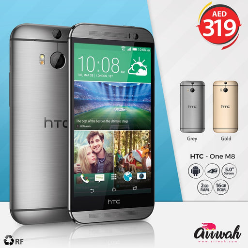 HTC One M8, 32GB, 4G LTE, (Refurbished) - Aiiwah.com