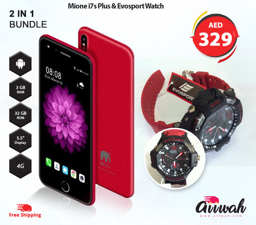 Mione i7s Plus & Evosport watch Bundle - Aiiwah.com