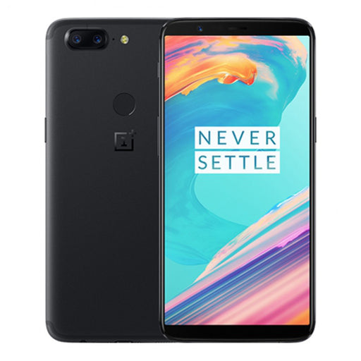 OnePlus 5T Dual SIM - 8/6GB RAM, 4G LTE, Midnight Black