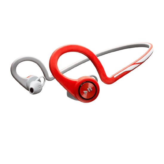 Plantronics BackBeat Fit Wireless Neckband Headphone, Red