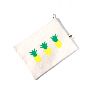 AOA Canvas Pouch - Pineapples - Aiiwah.com