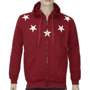 "Trap ""Lucky Stars"" Hoodie Jacket High Quality - Red"