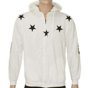 "Trap ""Lucky Stars"" Hoodie Jacket High Quality - Off White"