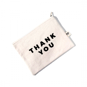 AOA Canvas Pouch - Thank You - Aiiwah.com