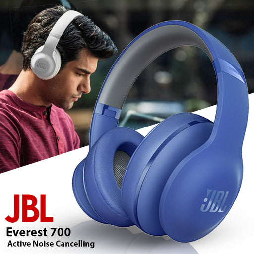 JBL Everest 700 Over Ear Wireless Headphones, Blue