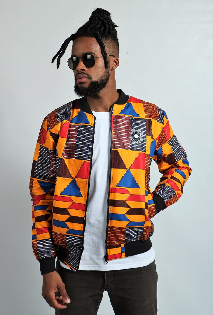 Mens - Big Kente Summer Bomber Jacket