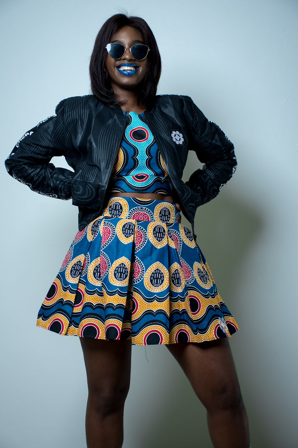 Ladies - Nandi  Pleated Mini Skirt