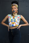 Ladies - Ndebele Crop Top