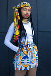 Ladies - Ndebele Print Shorts