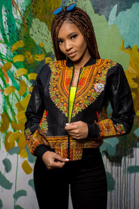Ladies - Black Dashiki Summer | Luxe Edition | Bomber Jacket.2
