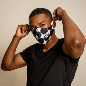 B/W Polka Dot - Ninja Face Mask (Branded)