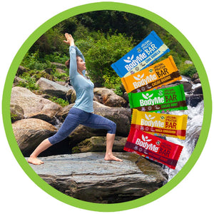 BodyMe Organic Vegan Protein Bars Yoga Warrior