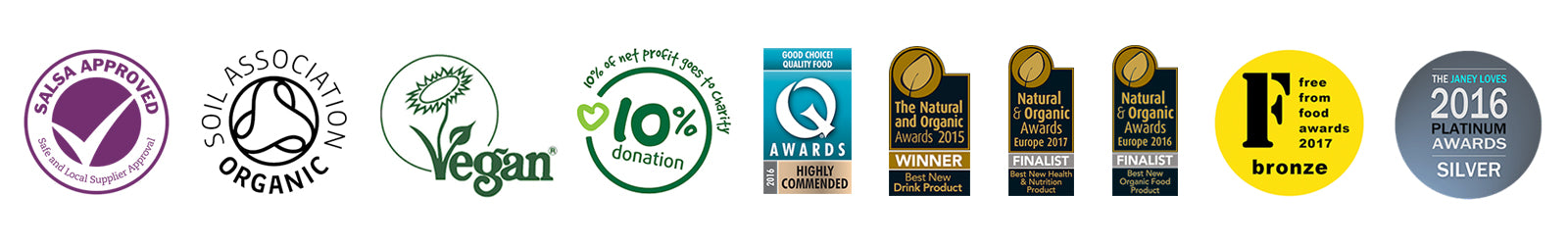 BodyMe Vegan Nutrition Quality And Award Badges Banner