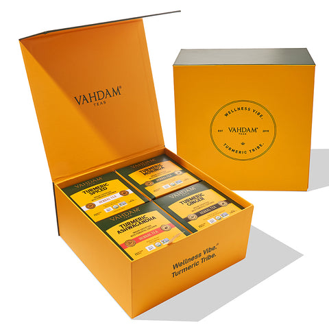 Organic Turmeric Wellness Detox Box | 4 Herbal Teas