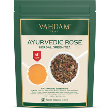 Ayurvedic Rose Herbal Green Tea | 3.5 oz