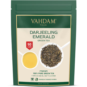 Emerald Darjeeling Green Tea Loose Leaf | 50 Cups