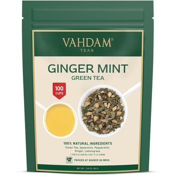 Sparkling Ginger Mint Green Tea