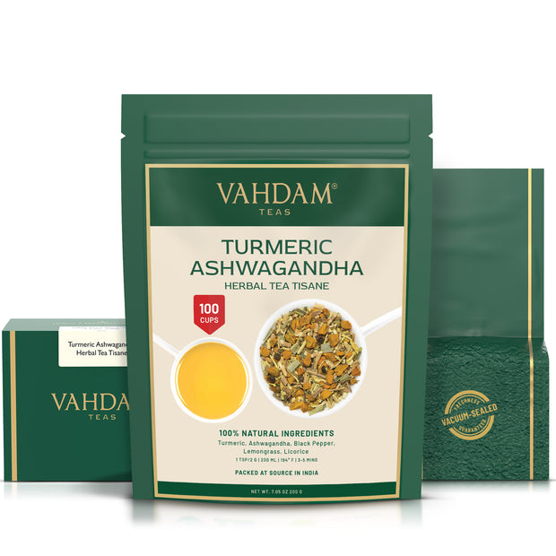Turmeric Ashwagandha Herbal Tea Tisane - 7.06oz 1