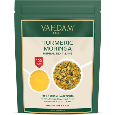 Turmeric Moringa Herbal Tea Tisane