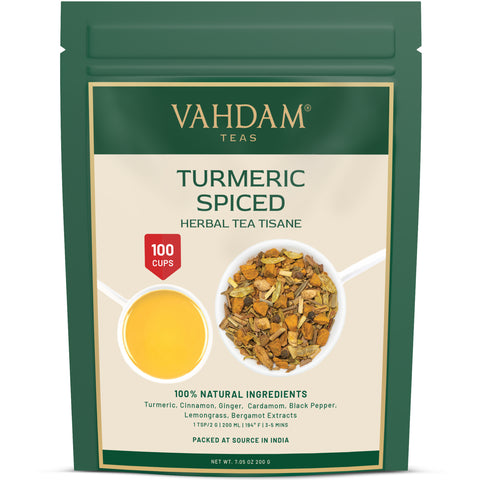 Turmeric Spiced Herbal Tea Tisane