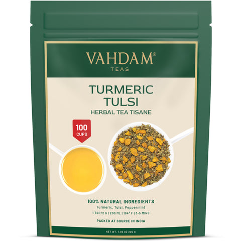 Turmeric Tulsi Herbal Tea Tisane
