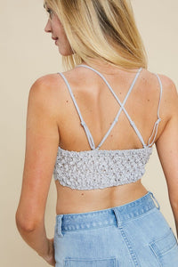 Grey Lacey Lovely Bralette!