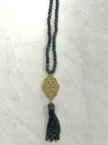 R&L New Age Tassel Necklace