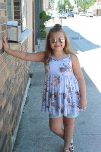 KIDS Grey Floral Dress