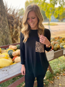 Hint of animal print Long Sleeve