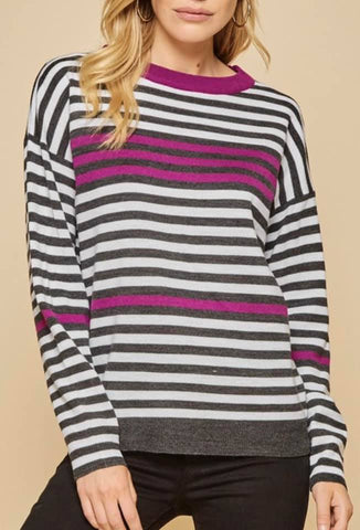 Curvy girl (plus size) pop of color sweater